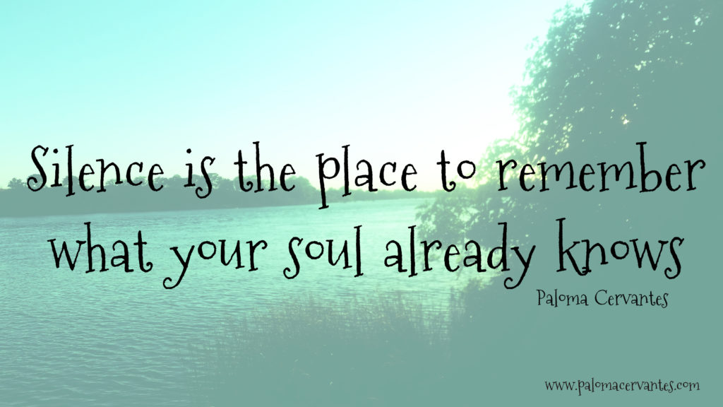 Silence is the place to remember
